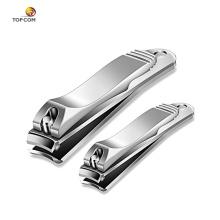 2 piezas de dedo gracioso y clipper uñas dedo conjunto al por mayor cortador de uñas cortador de uñas de acero inoxidable