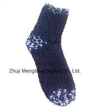 Woman Indoor Fuzzy Microfiber Socks Fluffy Lady Socks