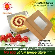 Kuchen-Kasten-Nahrungsmittelkasten mit Antifogging-Fenster
