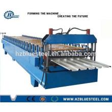 Corrugated Metal Roofing Sheets Making Machine / Trapezoidal Panels Manufacturing Machine