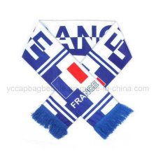 Promotion Acrylic Cheap Long Knitted Football Scarf