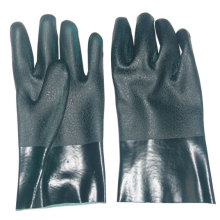 Green PVC  working glove