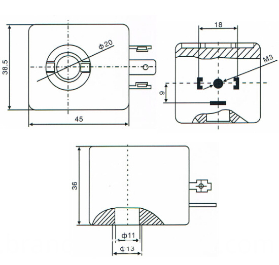 asco a044 coil drawing