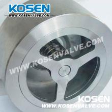 Válvula de retención de elevación de Wafer de acero inoxidable