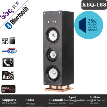 China FM radio Bluetooth floor standing speakers with LED lights