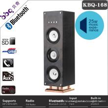 China FM radio Bluetooth floor standing speakers with LED lights
