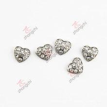 10mm puros cristales encantos del corazón Accesorios de moda (FC)