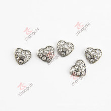 10mm Clean Crystals Heart Charms Fashion Accessories (FC)