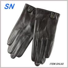 Gants en cuir véritable en cuir noir