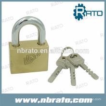 top security square brass pad lock