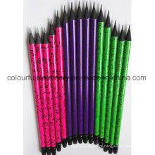 Design de OEM Lápis de madeira preta com borracha