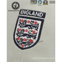 Logotipo de remiendo de costura de la bandera nacional bordado para la decoración de los casquillos de béisbol