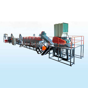 PE  PP bags crushing washing drying line