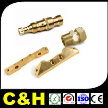 CNC Turning Lathe Machining peças de cobre / latão com niquelagem