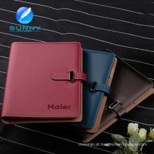 Caderno diário de couro com design clássico (XL-21007)
