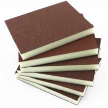 Sandpapierblock / Griff gebrauchter Papierschleifblock
