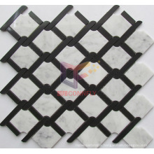 Black and White Mixed Marble Mosaic Tile (CFS1142)