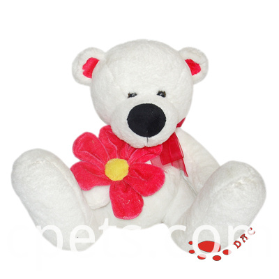 white bear with flower