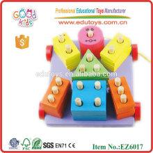 Wooden Block Cart Spielzeug