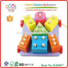 Wooden Block Cart Toys