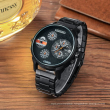 Fashion Multifunction Wristwatch Steel Bracelet Watch for Men