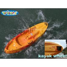 Sola sentarse en la rueda de plástico superior Kayak