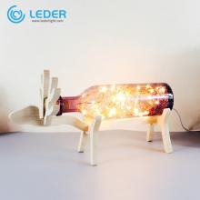 LEDER Schlafzimmer-Tischlampen aus Glas