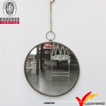 Wand-Metall gerahmte handgemachte dekorierte kleine dekorative runde Spiegel