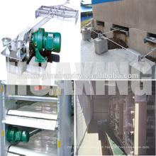 Máquina de remoção de estrume de fábrica para fazenda de gaiolas de camadas