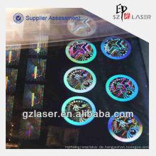 Hologramm benutzerdefinierte Nickel Shim Platte für Prägung Aufkleber