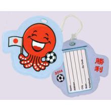Etiquetas de bagagem bordadas no Japão (titular do cartão de valor do passaporte ou do depósito)