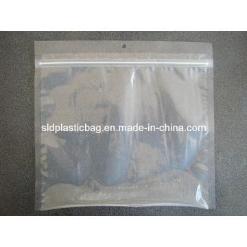 Sac d'emballage alimentaire transparent avec fermeture éclair et pendentif (L045)