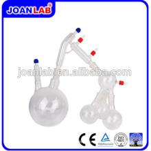 JOAN Kit de destilación / cristalería de vidrio corto de laboratorio