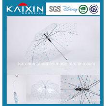 Прозрачный велюровый зонтик высшего качества