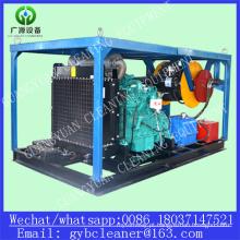 Diesel de alta pressão Wet Blasting máquina utilizada para limpeza de drenos
