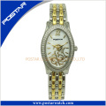 Oval-Shaped Fashionable Famous Brand Ladies Stainless Steel Women Watch
