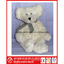 Cute Plush Teddy Bear Toy with Ribbon for Christmas Gift