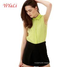 Women Shirt Blouse Chiffon Cotton Top Lady Clothing