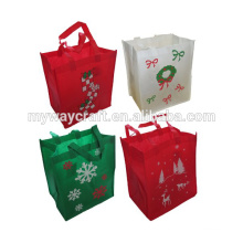 Christmas Non Woven Bags Reusable Fabric Holiday Gift Bags