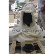 Cabeza Busto Escultura con Piedra de mármol Granito piedra caliza arenisca (SY-S259)