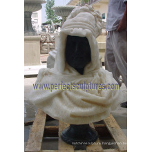 Head Bust Sculpture with Stone Marble Granite Limestone Sandstone (SY-S259)