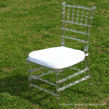 Clear Resin Chiavari Chair with Cushion