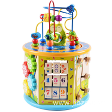 Wooden multi-functional eight-in-one big bead wooden toys