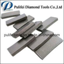 Dientes de corte de diamante de arenisca de segmento de corte de sierra individual
