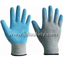 Anti-Cut Work Glove with Blue Latex Dipping (LD8034)