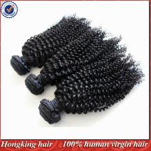 5A Klasse mongolische verworrene Locke Haarverlängerungen reines menschliches remy Haar