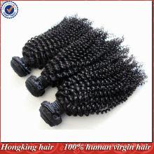 5A grado rizado mongol curl extensiones de cabello virginal remy humano