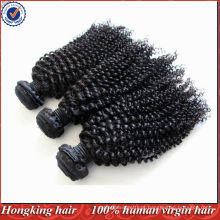 Cabelo remy humano virgem das extensões do cabelo da onda do kongy mongol da categoria 5A