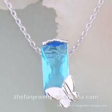 Top vente cristal autrichien collier ensemble cristal collier bijoux rhodium plaqué bijoux est votre bon choix