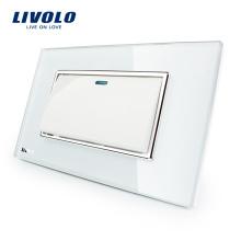 Manufacturer Livolo White Crystal Panel Switch US Rocker Push Button Switch VL-C3K1S-81 1 Gang 2 Way